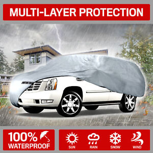 Motor Trend 4 layer 4 season Deluxe Car Cover For Van Suvs Up To 200
