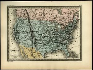 United States Mormon Fort Named Texas California Rocky Mountains C 1870 Map
