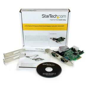 Startech com 2 Port Native Pci Express Rs232 Serial Adapter Card With 16550 Uart