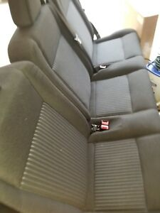 2016 2015 Ford Transit 250 350 15 Passenger Back Row Bench Seat Charcoal Cloth