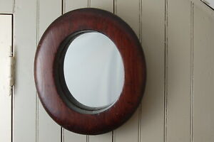 Antique Vintage Wooden Millinery Hat Block Form Mold Brim Decorative Mirror