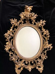 Fabulous Antique 18th Century Louis Xv Rocaille French Regence Gilt Mirror