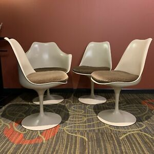 Mcm Eero Saarinen Tulip Chair Set 4 Knoll Associates 1960s