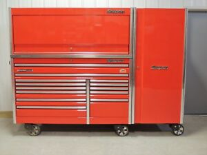 Snap On Absolute Red 68 Epiq Tool Box Stainless Steel Top Hutch