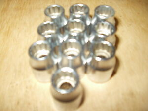 Lot Of 10 Britool 3 8 Drive 12 Point Standard Sockets 10mm Made In England