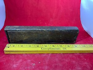 Vintage Primitive Wood Wooden Box Joint Corner Slide Top Lidtiny Small Antique