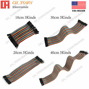 Breadboard Jumper Wires 10 20 30 40cm Dupont Wire For Arduino Raspberry Pi