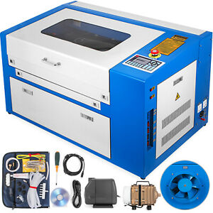 50w Laser Engraving Machine 20 12 Co2 Engraver Cutter W Rotary Device 110v