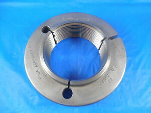 3 8 Un 2a Thread Ring Gage 3 0 Go Only P d 2 9162 Quality Inspection Tools