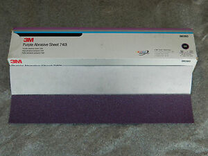 3m 00393 Purple Stikit Air File Sheet 40e Grit 2 3 4 X 16 1 2 50 Sheets 740i
