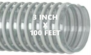 1 Roll Of Kanaflex 100 Cl 3 Corrugated Clear Pvc Water Suction Hose 100 Ft