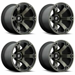 Set 4 20 Fuel Beast D564 Black Machined Truck Wheels 20x10 5x5 5 18mm Lifted