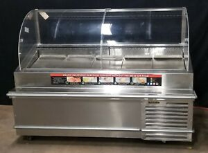 Traulsen Td078ht Stainless Steel 78 Refrigerated Seafood Case