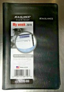 Lot Of 9 At a glance 2019 Planner Calendar Pocket Black New Year G235 00 New