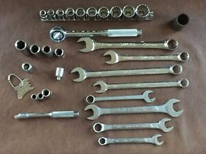 Husky Wrenches Ratchet Combo Flex Adapter Sockets Sae Metric 28 Piece Mixed Lot