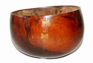 18c Hawaii Kou Wood Calabash W Repairs Butterfly Repairs Must See Geo