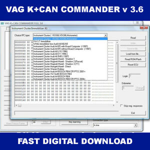 V 3 6 Vag K Can Commander 2017