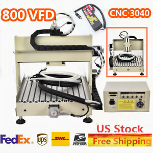 3040 Cnc 4 Axis Router Engraver Engraving Machine 0 8 Kw Water cooling handwheel