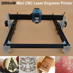 Mini Cnc Laser Engraver Printer Wood Metal Stone Cutter Marking Machine 2000mw