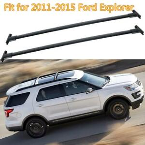 Black Car Top Luggage Roof Rack Cross Bar Carrier For 2011 2015 Ford Explorer