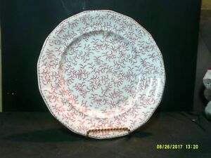 Antique W Ridgway Ninon Pearlware Maroon Transfer Decorated Plate C 1830 54