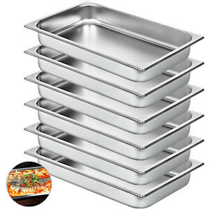 Steam Table Pans Bain Marie 6 Pack Chafing Dish Catering Table Food Pan