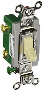 Hubbell Wiring Hbl3032i Heavy Duty Grade Two Position Toggle Switch 30 A Ivory