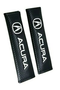 Acura Carbon Look Embroidery Seat Belt Cover Shoulder Pads For Integra Tlx Nsx