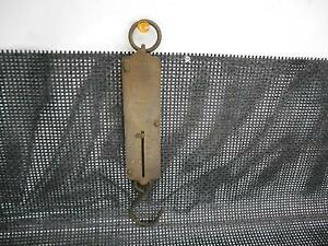 Antique Chatillons Brass Spring Balance Scale New York 48 Lb Capacity Old