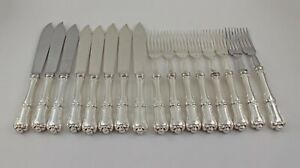 Birks Francis I Sterling Silver Fish Place Setting Set Of 8 No Monograms