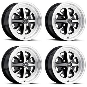 New 1965 1973 Mustang Magnum 500 400 Alloy Wheels 4 Lug 6 Cylinder Set 4 15x6