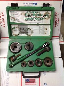 Greenlee Slugbuster 7238sb 1 2 2 Wratcheting Knockout Punch Set 7137b