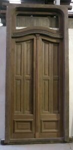 Antique Fully Restored Double Glass Door With Shutters