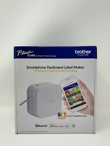 New Brother P touch Cube Smartphone Label Maker Bluetooth Wireless Pt p300bt