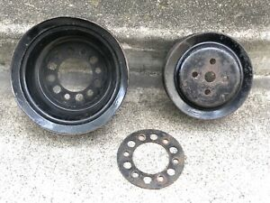 Buick Nailhead 401 425 3 Groove Pulley Set Water Pump And Crankshaft Pulley