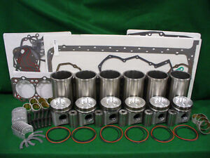 Rp807 John Deere 6068t 6068h Late Engine Inframe Overhaul Kit 6620 7520 9400