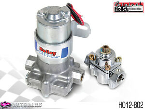 Holley Blue Electric Fuel Pump With Regulator 110 Gph 14 Psi Silver Ho12 802