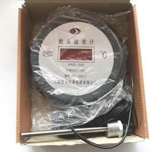 Ac220v Led Digital Thermometer range 50 200 With 20 Meters Length Ntc Wire