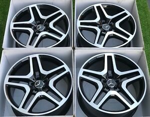 21 Mercedes Benz Gls Gl Gls550 Gl550 Gl63 Amg Oem Wheels Rims Authentic Black