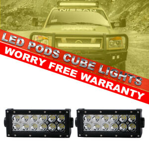 2x7inch 36w Led Work Light Bar Spot Beam Reverse Driving Lamps For Snow Plow Suv