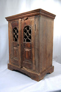 Asian Small Altar Cabinet Rustic Wood Unknown