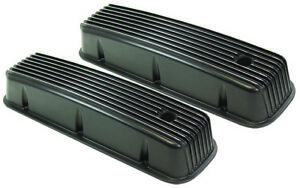 Aluminum Valve Covers Tall Black Finned 65 95 Big Block Chevy 396 402 427 454