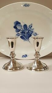 Beautiful Pair Of Vintage Duchin Sterling Silver Candlesticks 4 5 8 Excellent