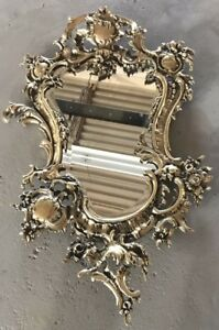 Brass Frame Wall Mirror French Style Louis Xv Hand Made Same Like Bronze