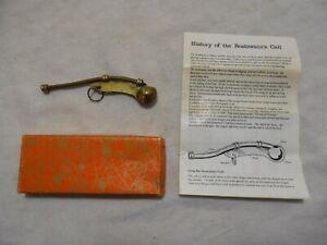 Vintage Boatswain S Call Whistle W Instructions Box