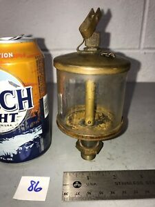 6 Tall Brass Oiler Hit Miss Gas Engine Vintage Style Pat d 1915