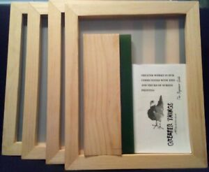 Silk Screen Frame For Screen Printing 16 By 13 1 8 160 Mesh Squeegee