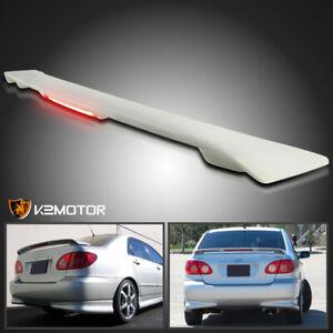 For 03 08 Toyota Corolla Abs Factory Rear Trunk Spoiler Wing led Brake Light