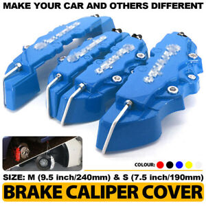 4 Pcs Bl 3d Style Brake Caliper Covers Universal Car Disc Front Rear Kits Cy02