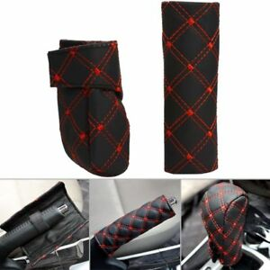 Pu Leather Car Hand Brake Cover Gear Shift Stick Cover Car Styling Accessories